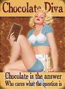 Chocolate Diva fridge magnet  (og)